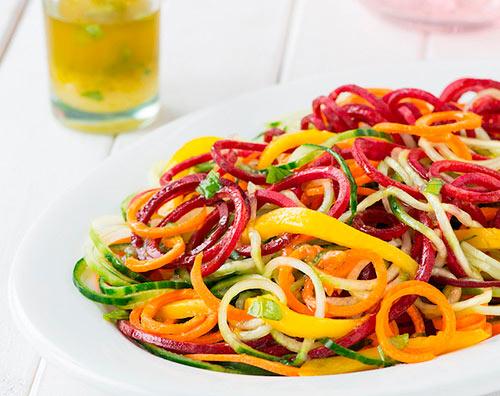 spiraliniai daržovės
